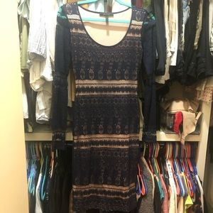 BCBGMaxAzria Tanya long sleeve dress